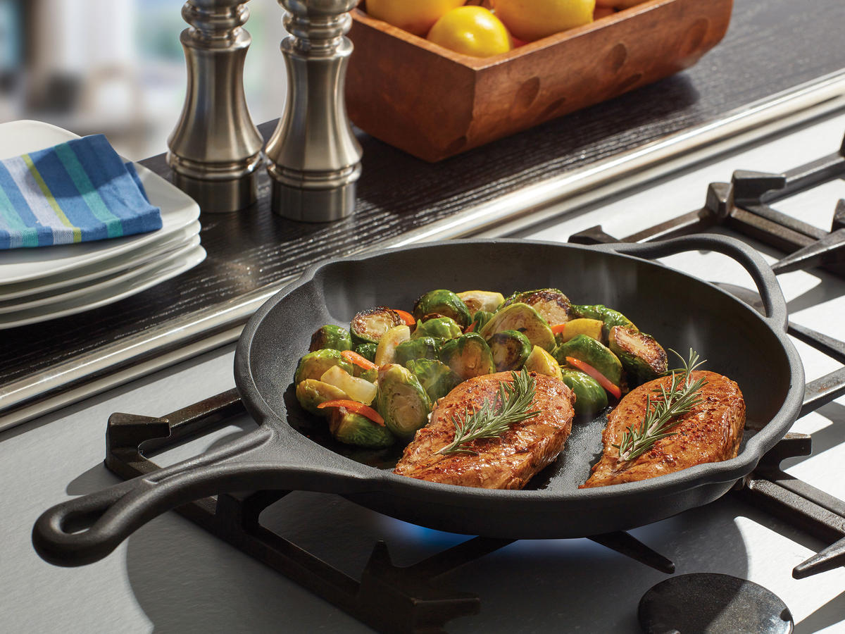 This New Line of Cast-Iron Pans Is Pre-Seasoned and Dishwasher Safe