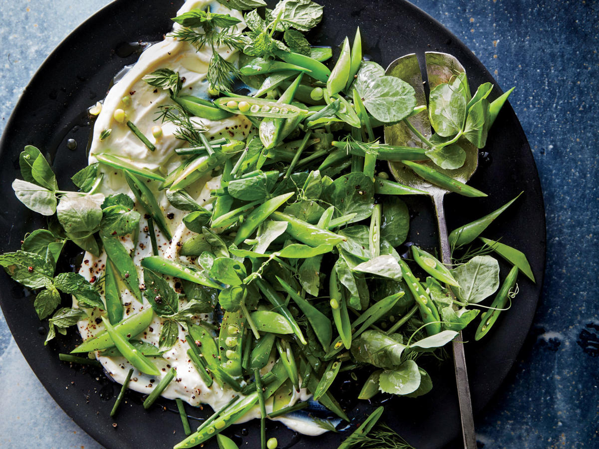 Snap Pea Salad with Whipped Ricotta