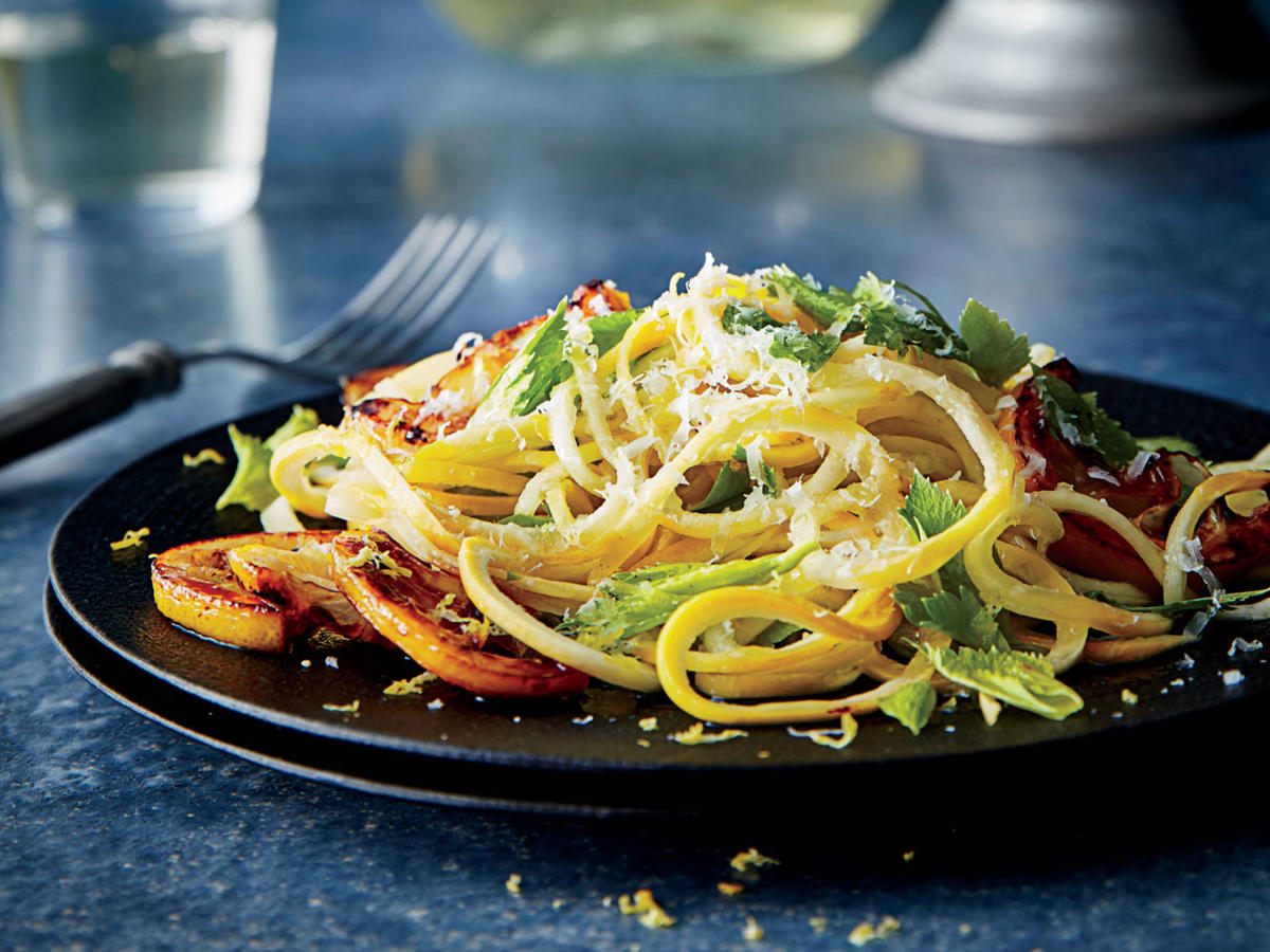 Yellow Squash Pasta with Caramelized Lemon