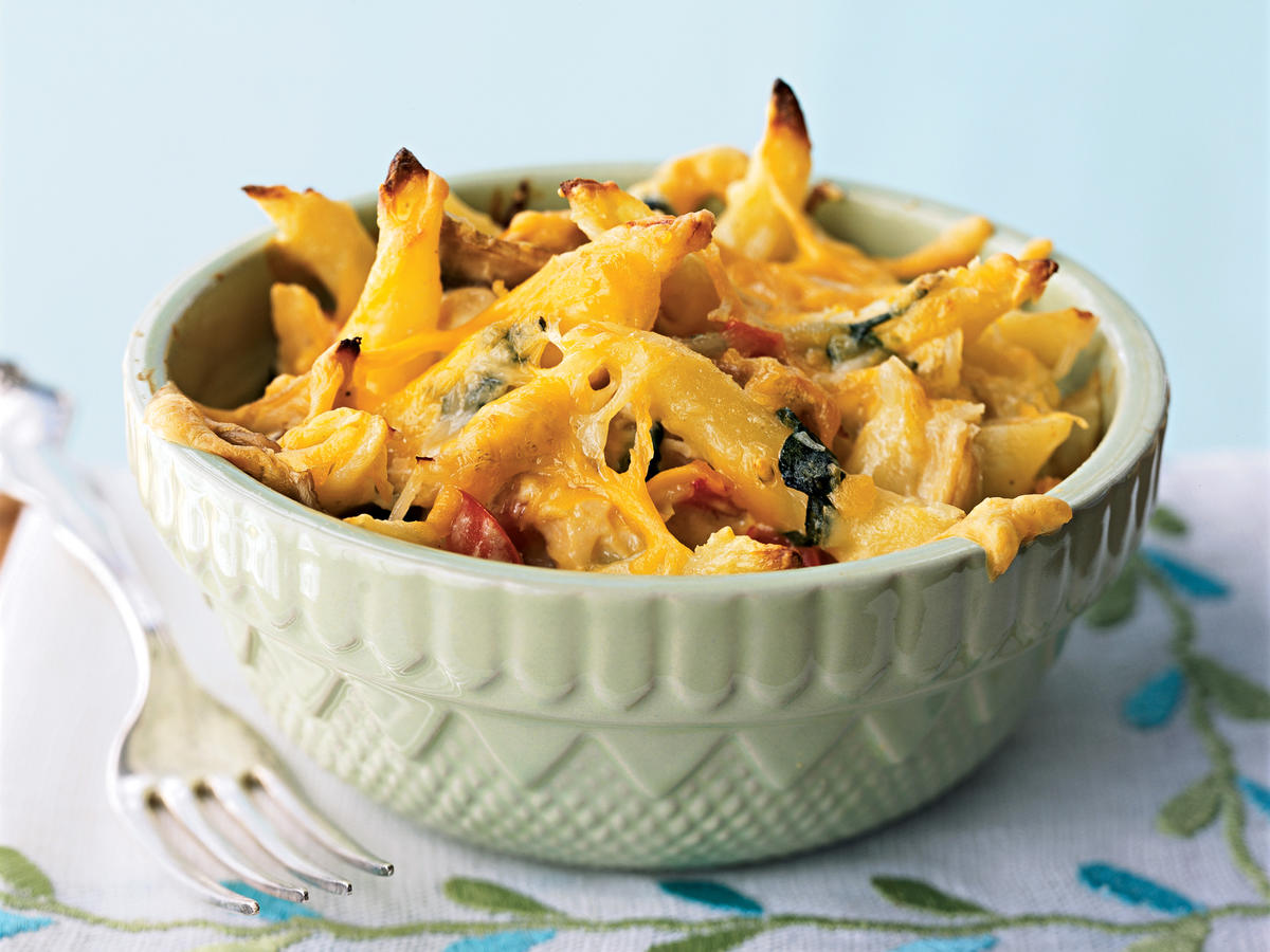 Three-Cheese Chicken Penne Florentine Recipes
