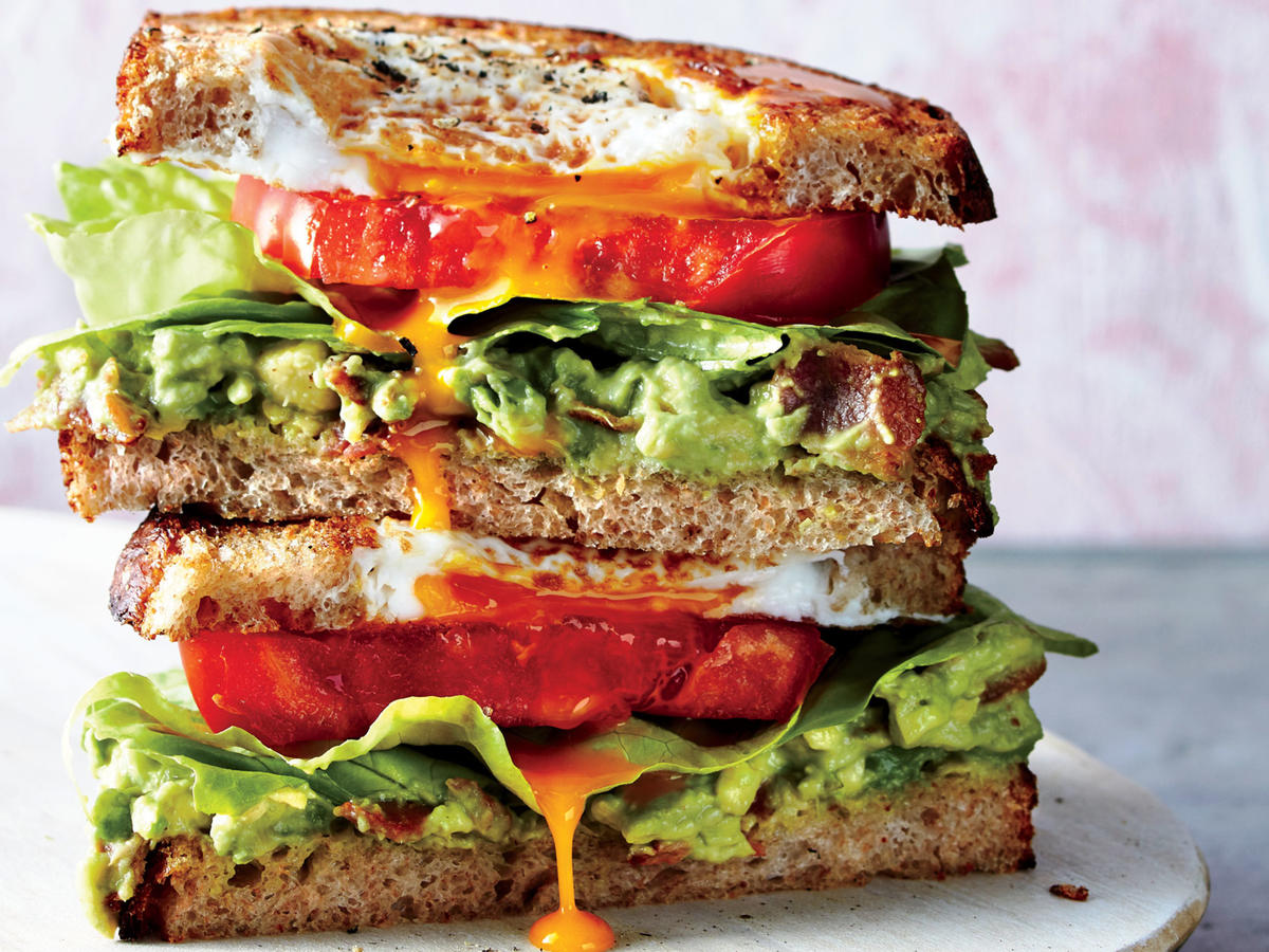 These toasty handfuls may just be the ultimate combo in the world of sandwiches. The recipe combines some of our favorite things: It's a delicious mash-up of egg-in-a-hole, avocado toast, and a classic BLT.