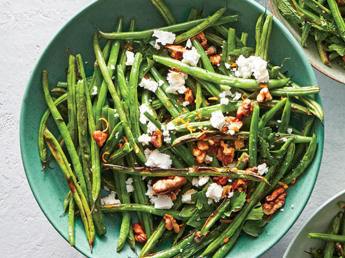 Charring is a great technique for coaxing extra flavor from vegetables without adding calories. Here, slender green beans stay crisp and fresh while taking on a hint of bitter and smoke for balance.
