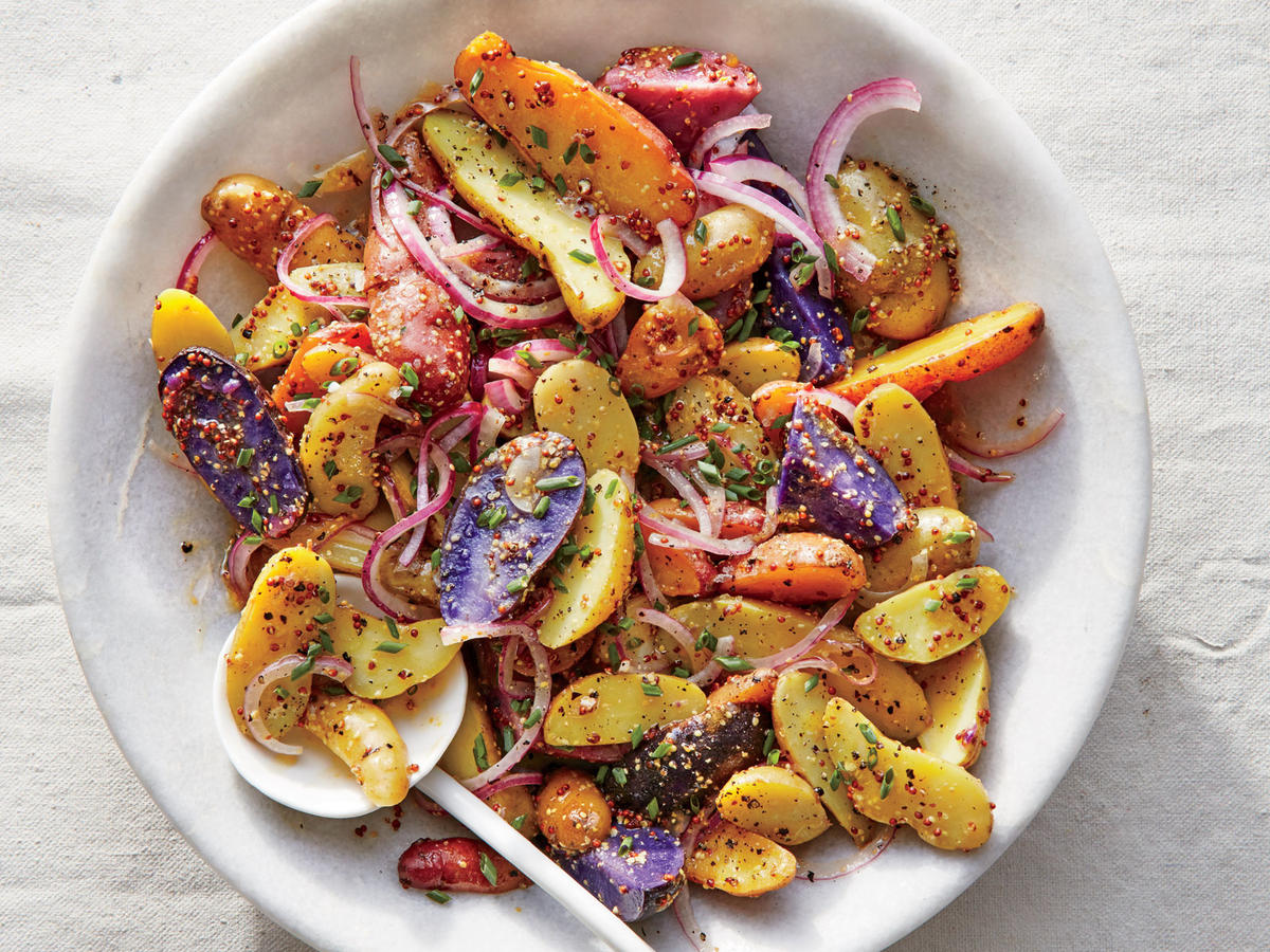 Fingerling Potato Salad with Mustard Vinaigrette