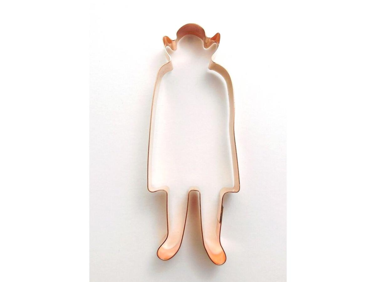 Vampire with Cape Halloween Copper Cookie Cutter