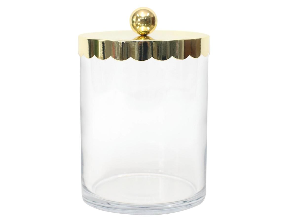 Target Gold Scalloped Lid Glass Candy Jar