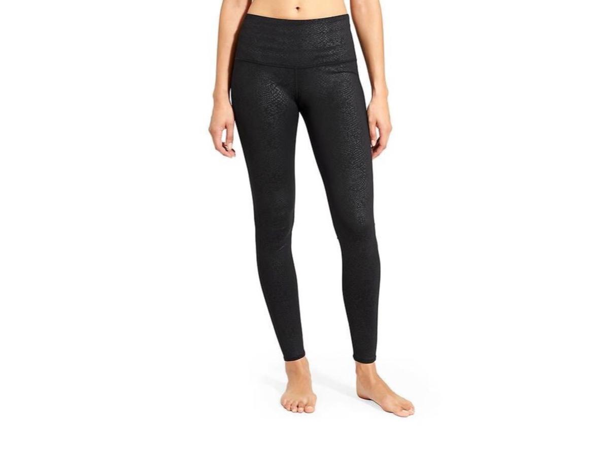 Athleta Black Serpent Yoga Pants