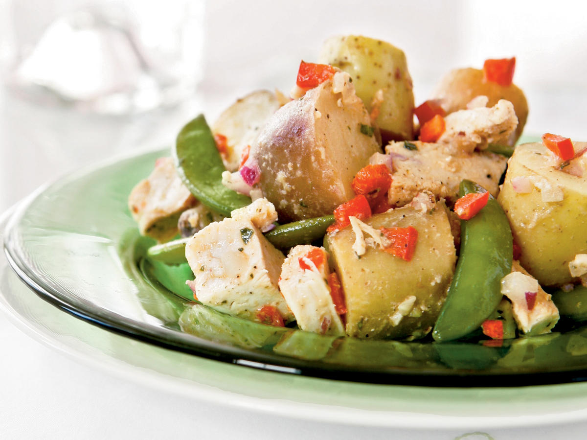 Potato, Chicken, and Fresh Pea Salad Recipe
