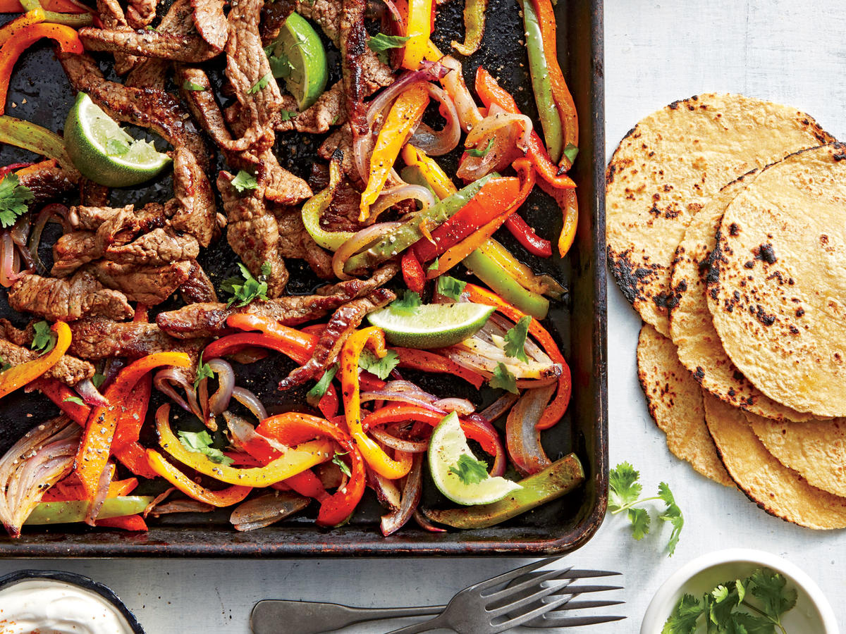 Wednesday: Sheet Pan Steak Fajitas
