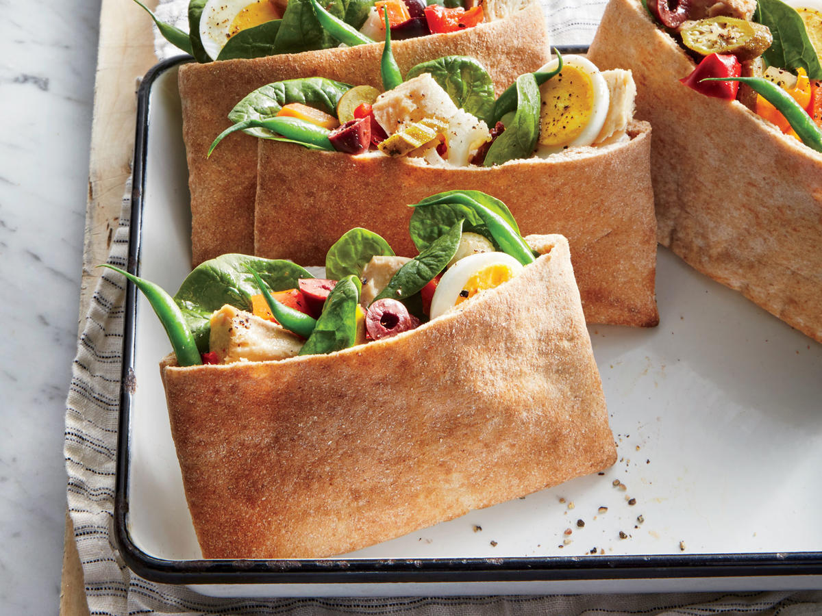 Tuna-and-Pickled Vegetable Pita Pockets