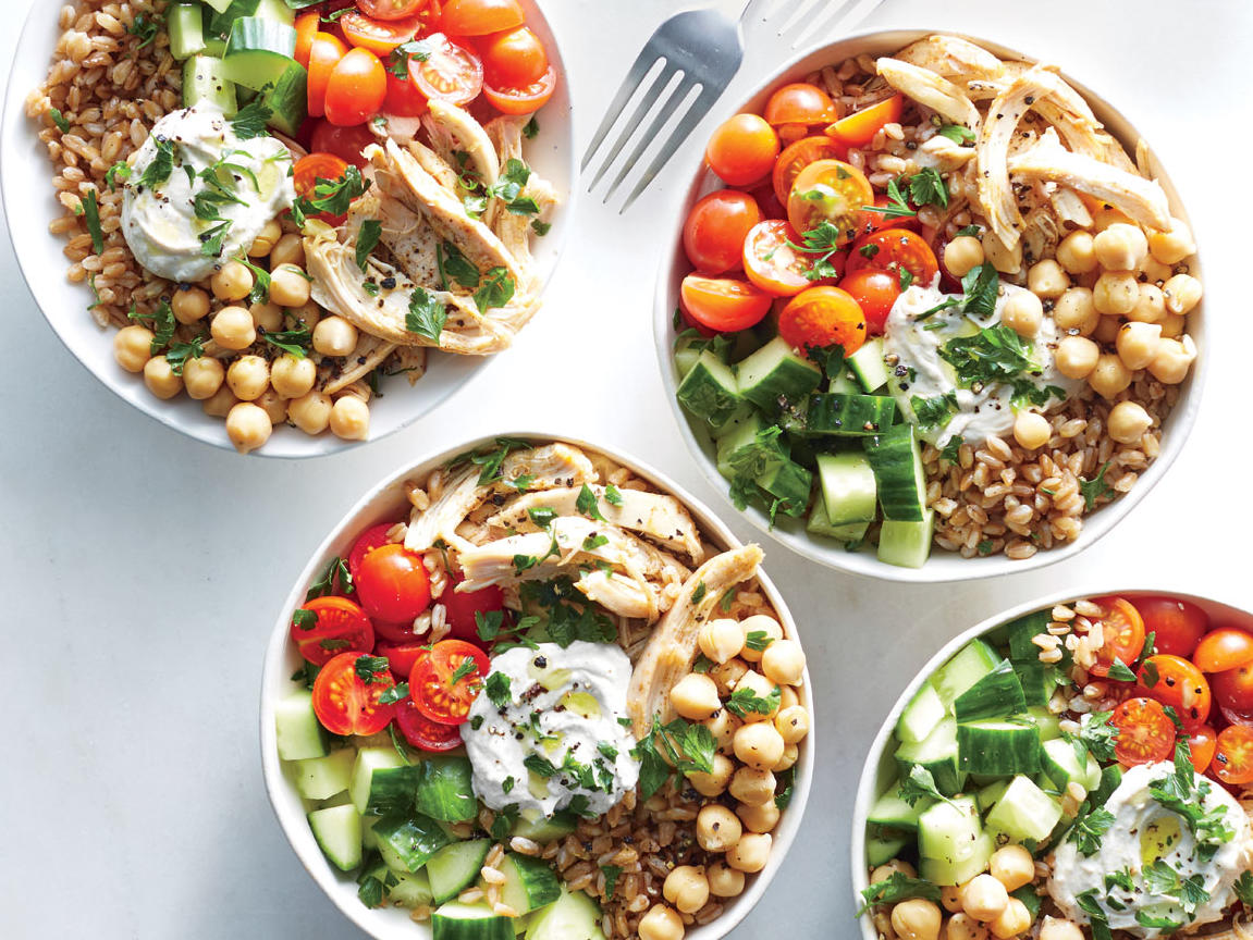 Monday: 15-Minute Chicken Shawarma Bowls