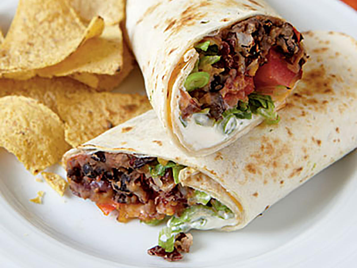 Quick and easy vegetarian recipes for dinner tonight cooking light vegetarian dinner recipe chipotle bean burritos forumfinder Choice Image