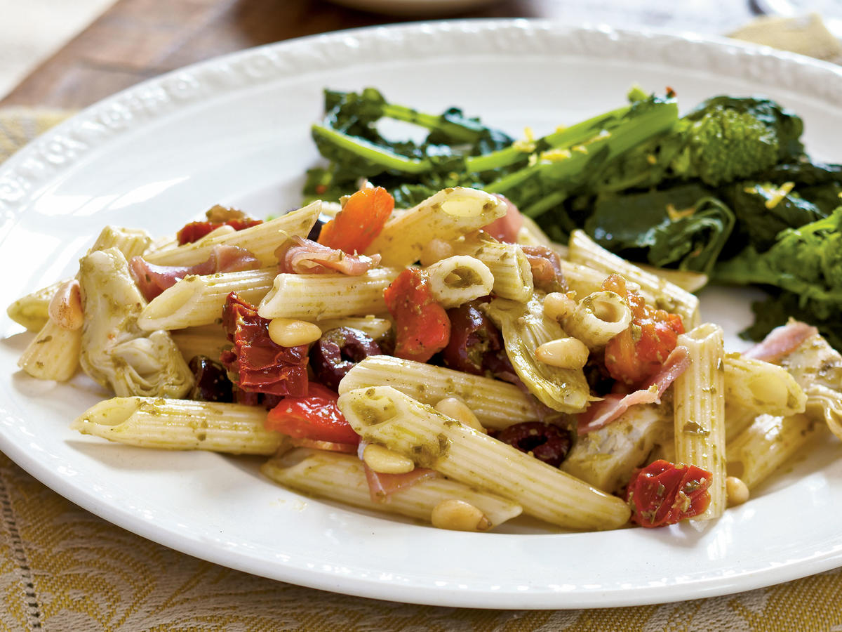 Healthy Dinner Recipe Antipasto Style Penne