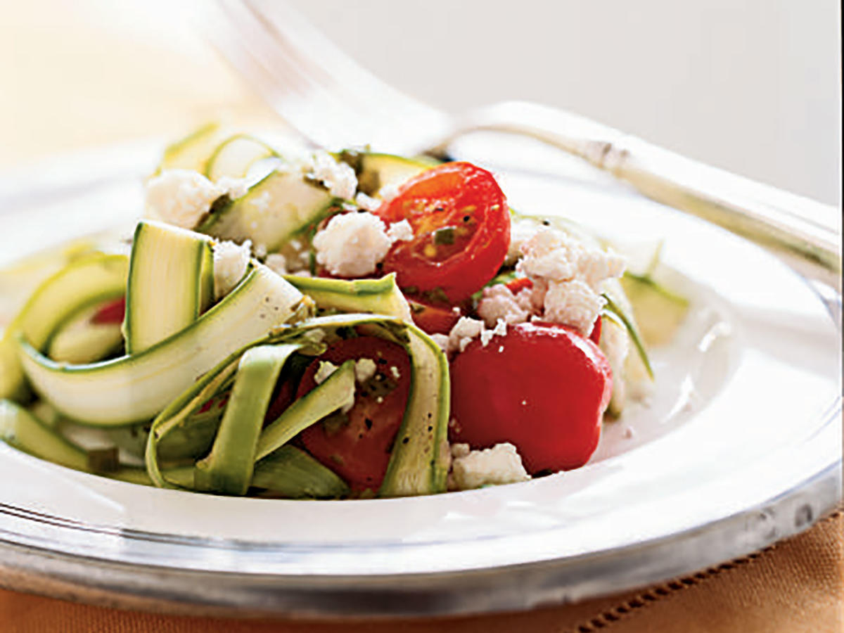 The fun ribbons created by shaving asparagus with a vegetable peeler are easy to make, and don't have to be cooked, so they retain their crunch and flavor. This fast salad makes a great light, fresh side for just about any summer dish, from burgers to grilled fish to barbecue.