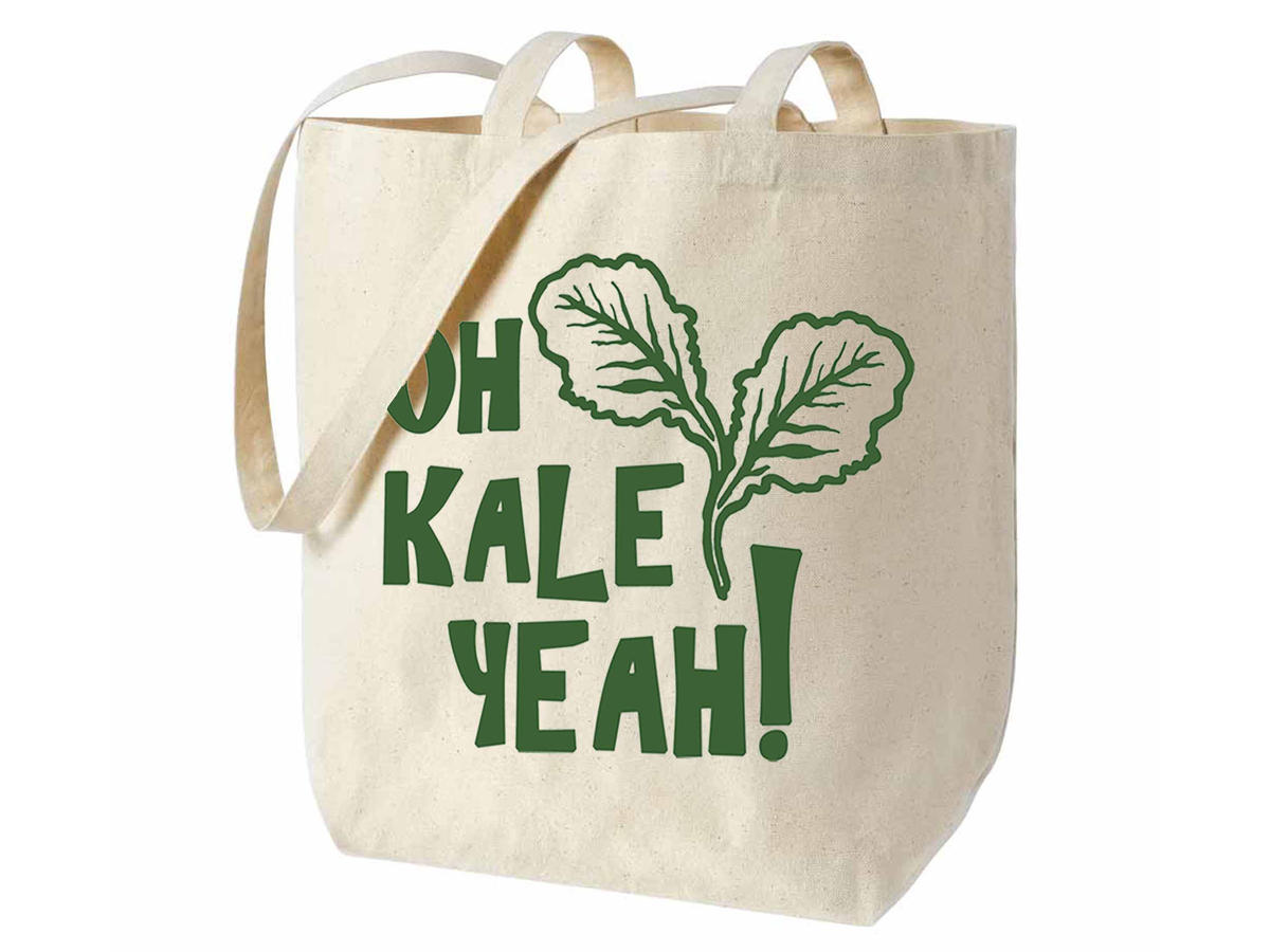 Bad Pickle Tees Kale Yeah Tote Bag
