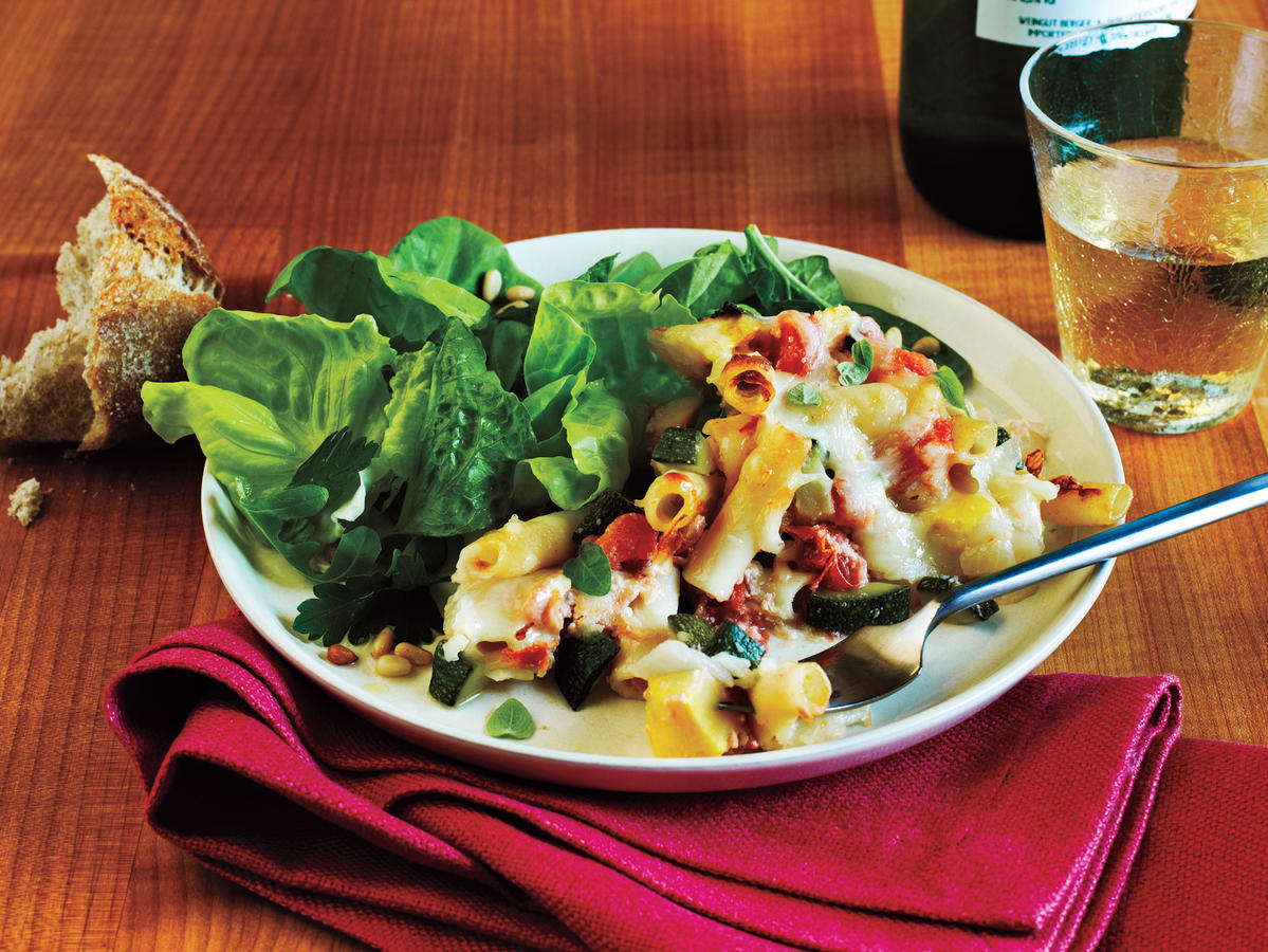 Baked Ziti and Summer Veggies