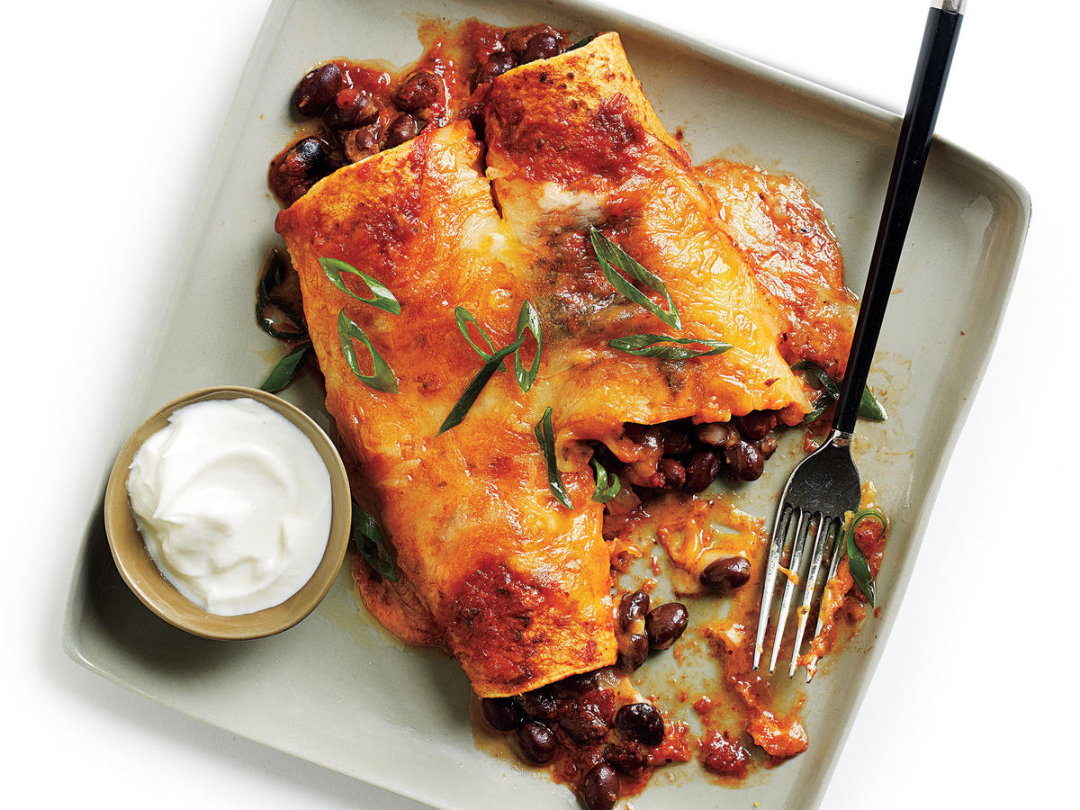 These enchiladas are a fresh take on the enchiladas you grew up with. Most noticeable is the lack of canned enchilada sauce. Make your own delicious ranchero sauce and receive rave reviews.