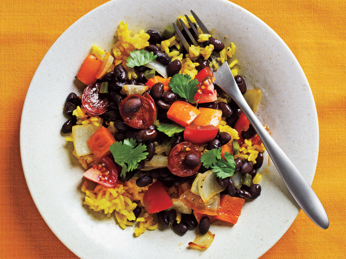 Black Beans and Yellow Rice Budget Cooking Recipe