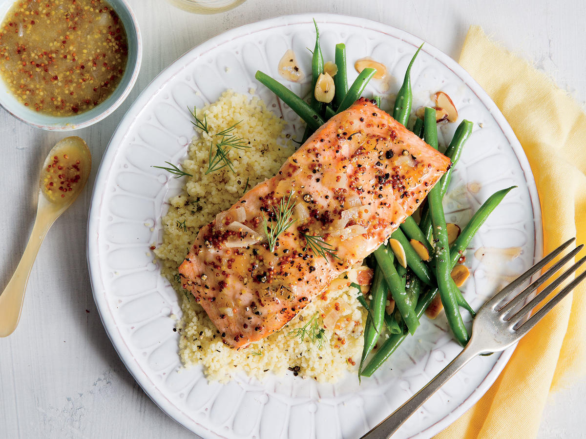 Day 1 Cleanse: Dinner Salmon, Quinoa, Green Beans