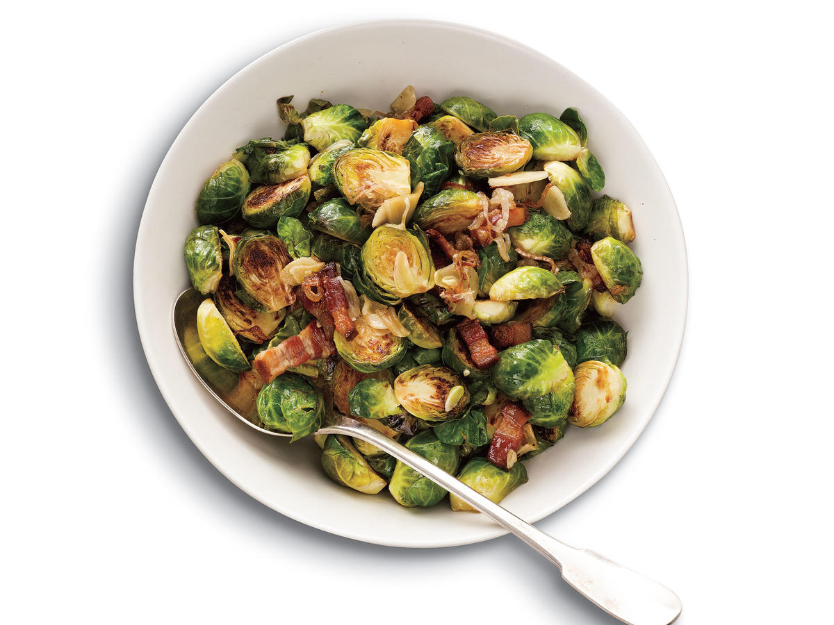 Brussels Sprouts with Bacon, Garlic, and Shallots Recipe