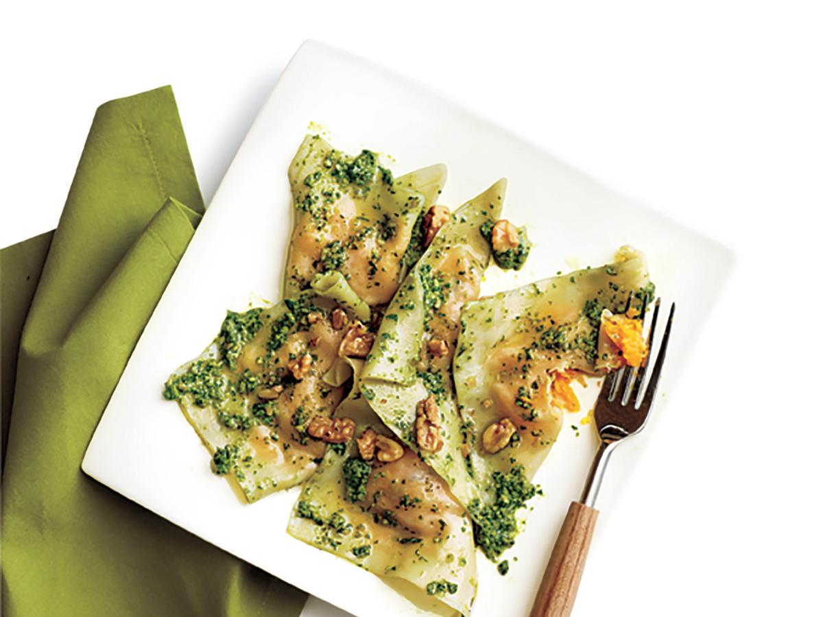 Our recipe uses supermarket wonton wrappers to create a shortcut weeknight ravioli treat.