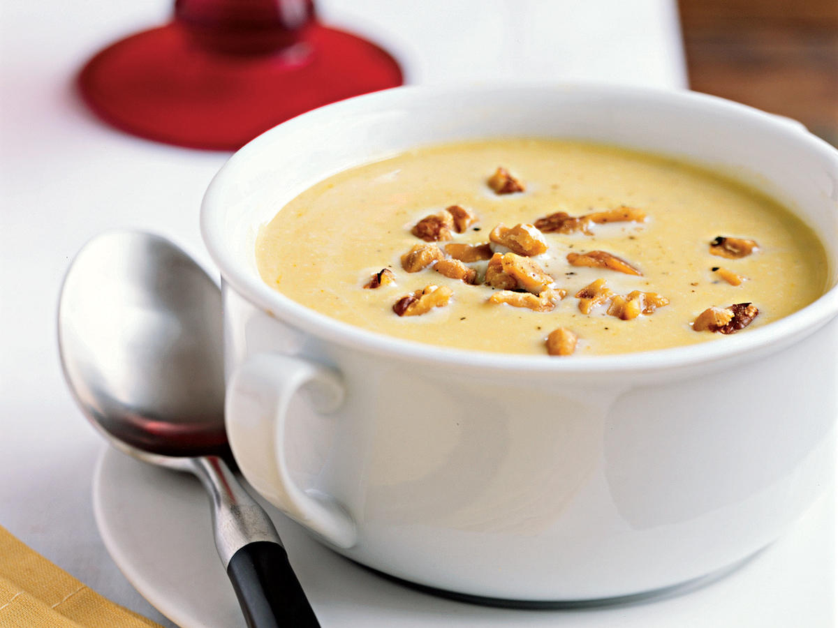 butternut squash soup with toasted walnuts recipe