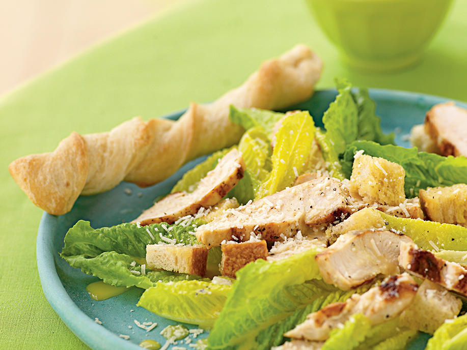 Hearts of Romaine Caesar Salad with Grilled Chicken Recipes