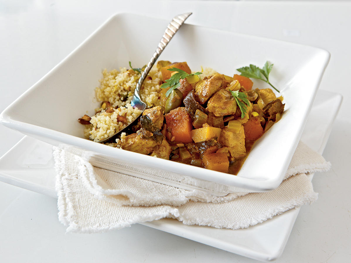 Healthy Dinner Recipe: Chicken-Butternut Tagine