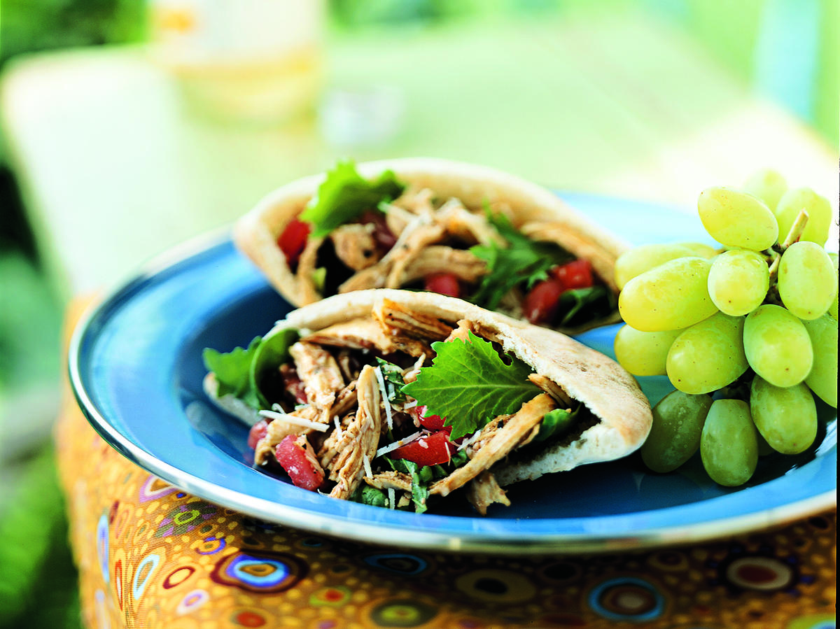 Little Italy Chicken Pitas with Sun-Dried Tomato Vinaigrette Recipes