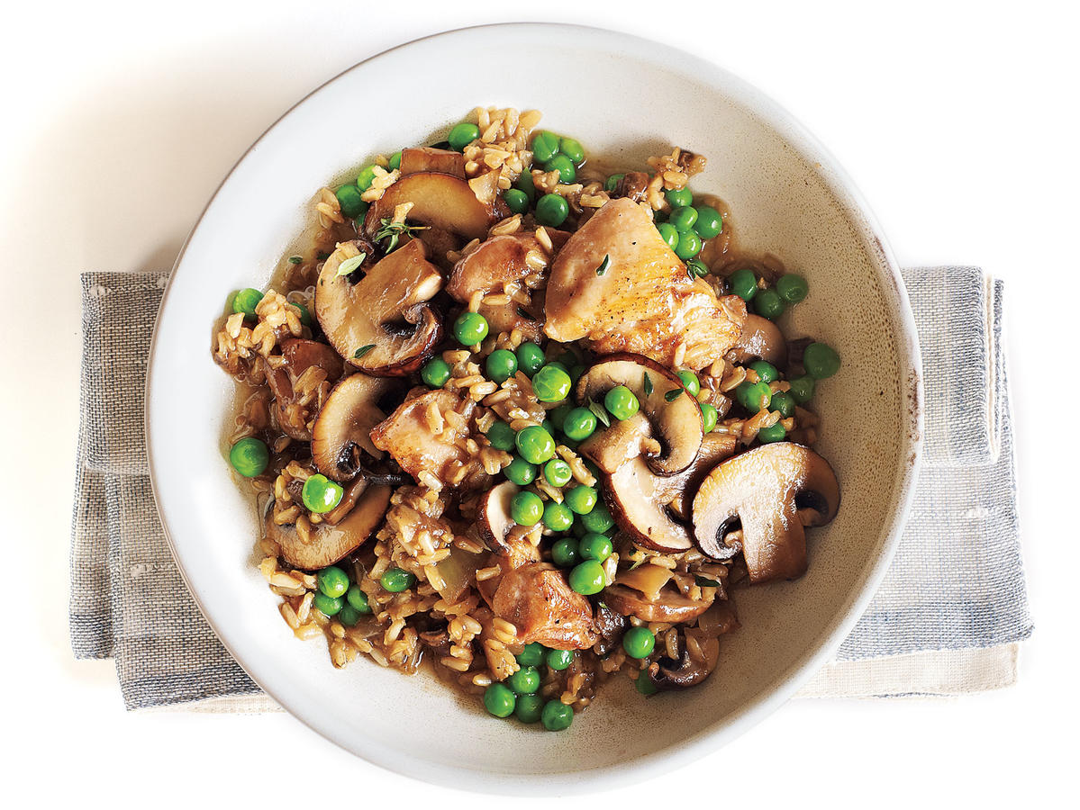 Chicken and Rice with Mushrooms Budget Cooking Recipe