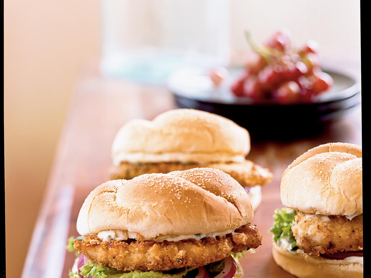 Spicy Chicken Sandwiches with Cilantro-Lime Mayo Recipes