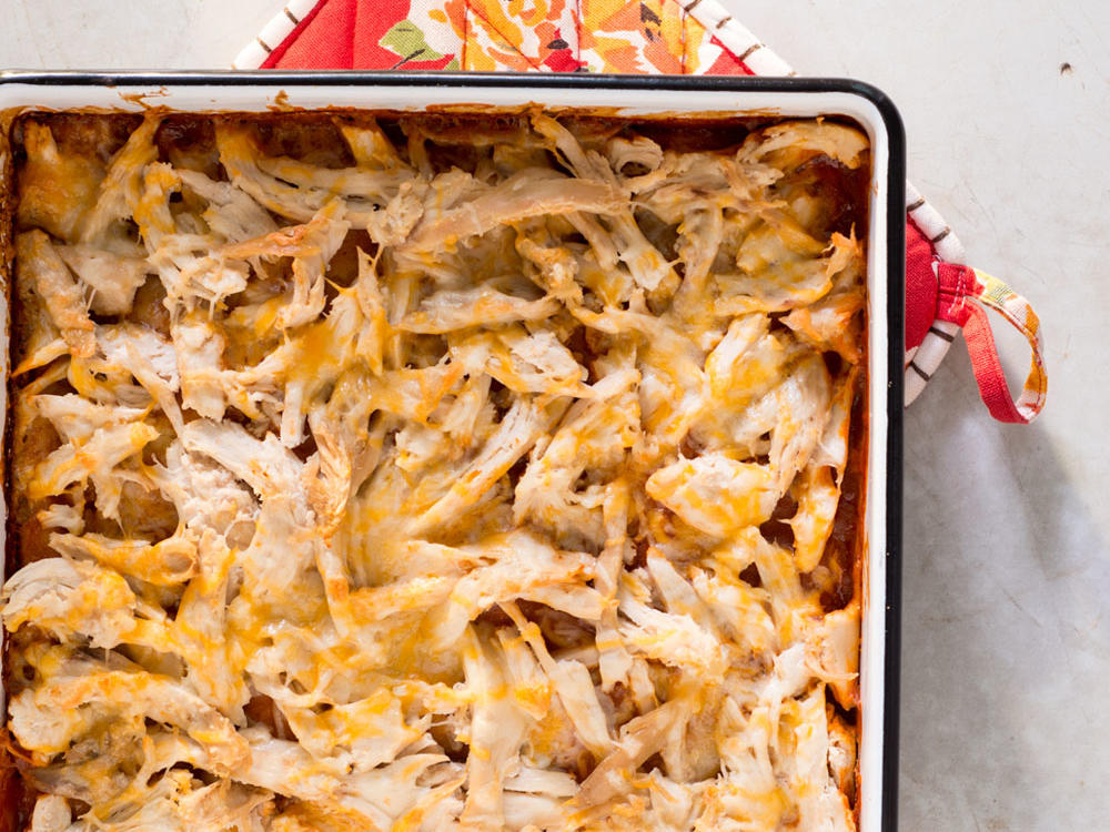 This casserole is a quick and easy swap for more traditional tamales—but just as delicious.