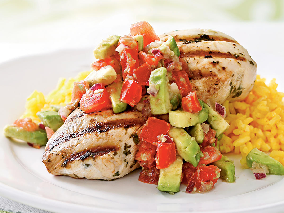 Cilantro Lime Chicken With Avocado Salsa Recipes