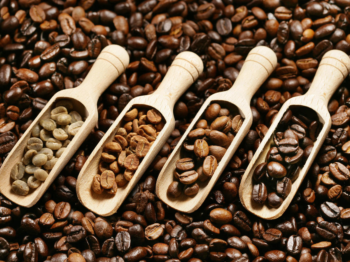 light roasted coffee beans