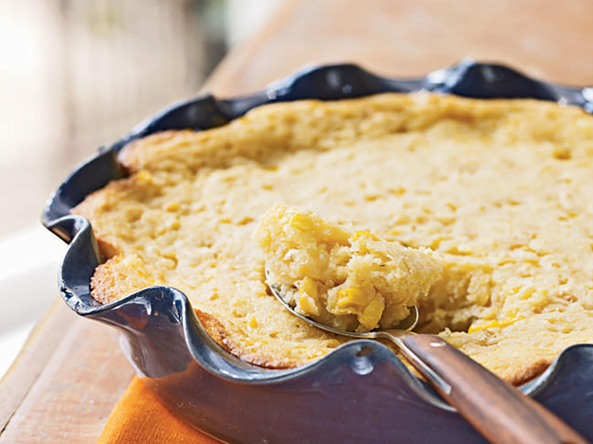 Making the most of convenience products, this corn casserole comes together quickly as an ideal side dish for a weeknight meal or even a friendly gathering.