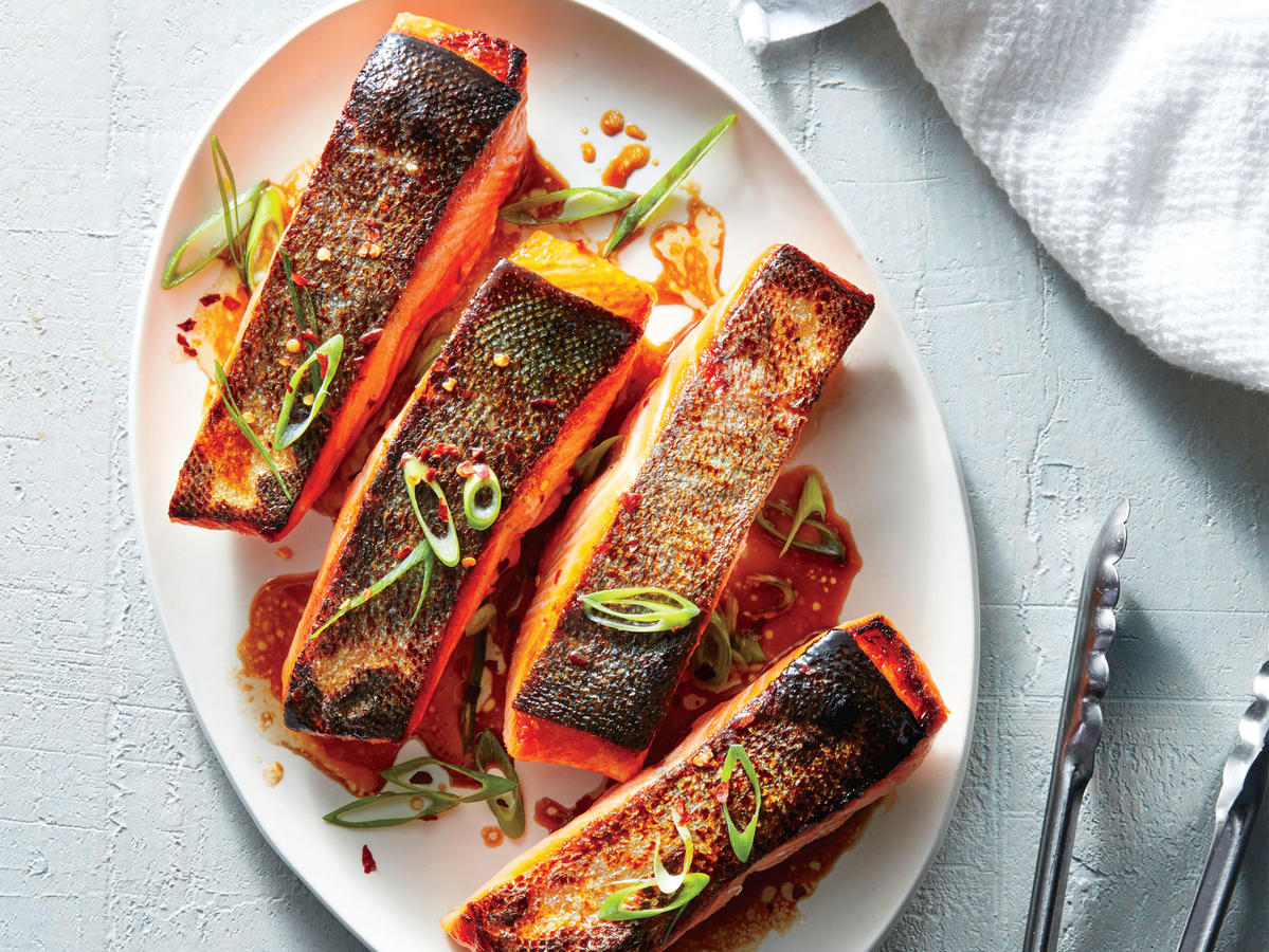 November 2: Crispy Salmon Fillets with Sesame-Soy Drizzle