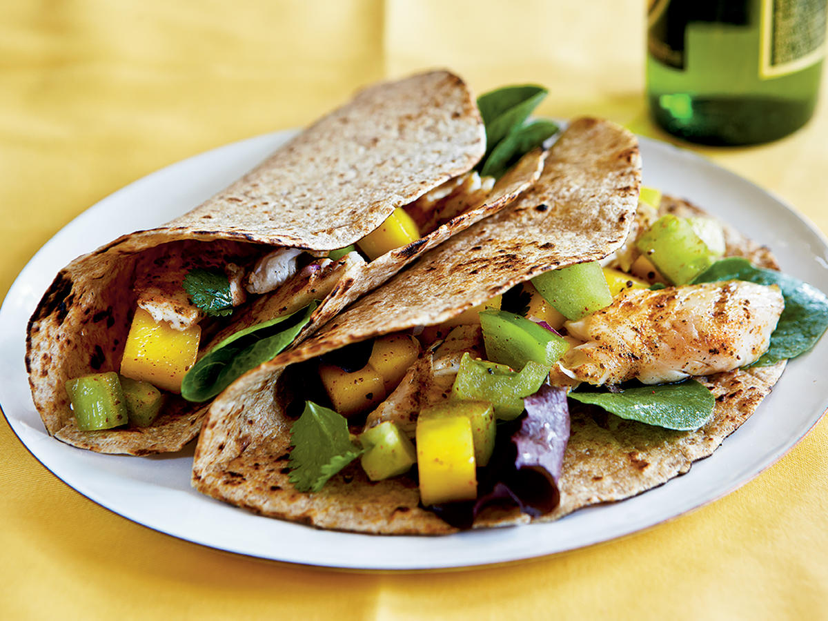 13 fish taco recipes cooking light for Recipes for fish tacos
