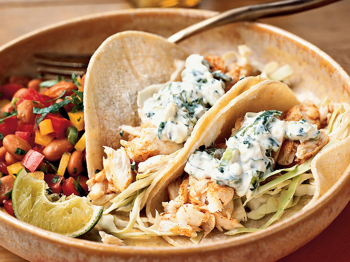 25 best seafood recipes cooking light for Best fish taco recipe