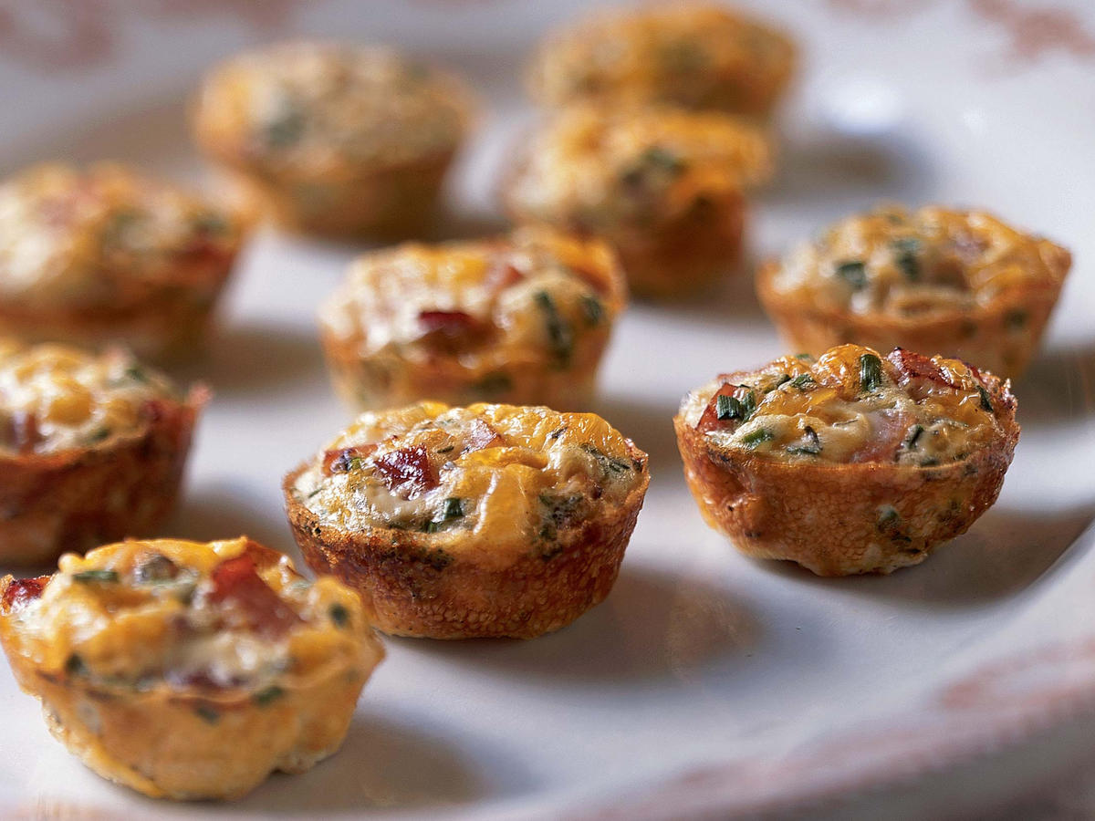 0112 Mini Frittatas with Ham and Cheese