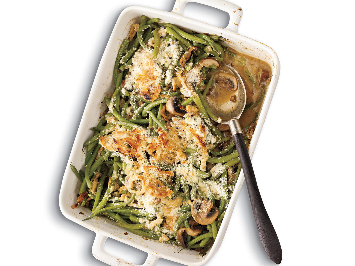 Green Bean Casserole with Madeira Mushrooms Recipe