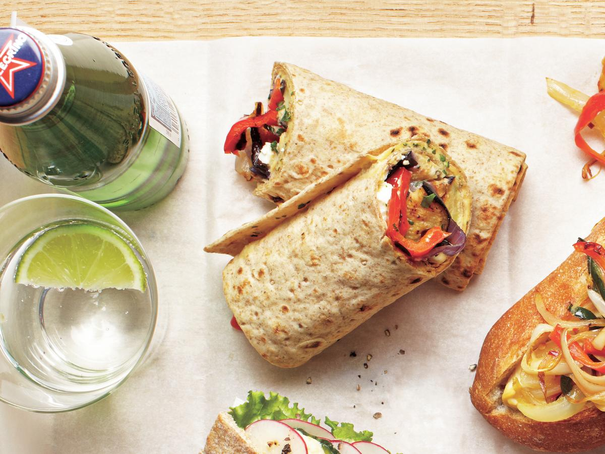 Make the most of summer's fresh vegetables and grilling by preparing these meatless wraps to take along on a picnic. Serve with a side of potato or pasta salad.