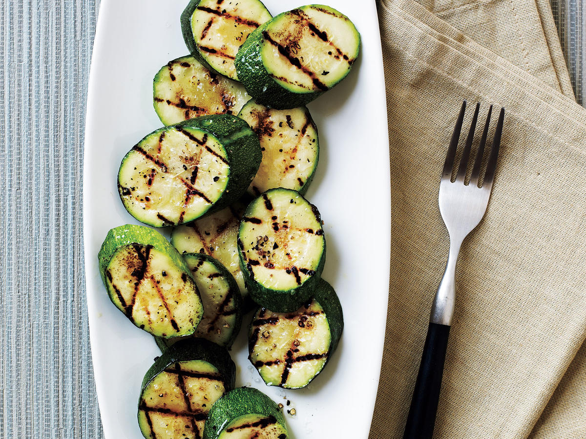 Grilled Zucchini With Sea Salt