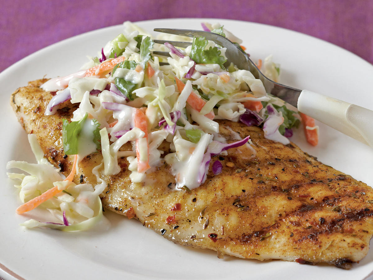 This southern favorite lends its flavor to the spicy jerk rub that transforms this fish from ordinary to tastefully elite. A creamy cilantro slaw blends with the spice and balances out the hot habanero pepper.
