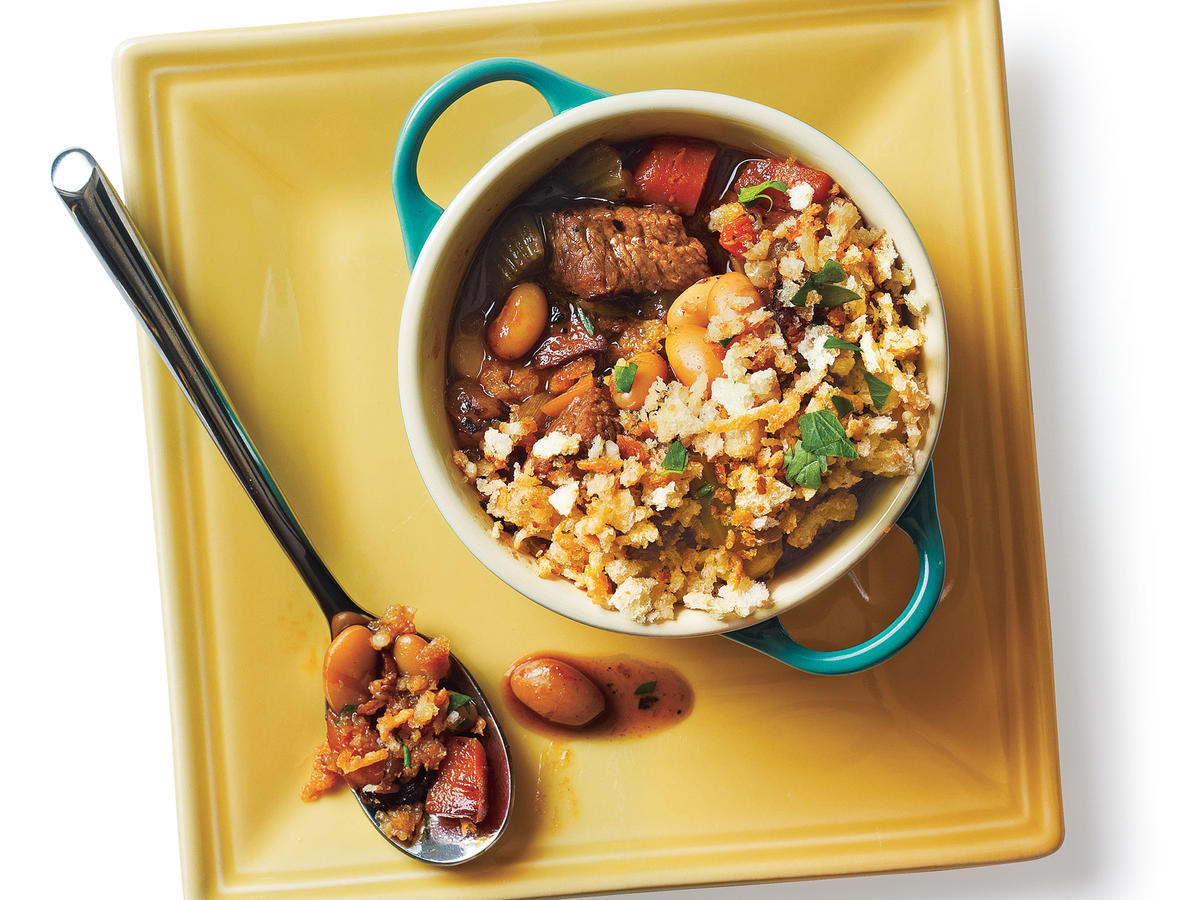 Budget meals feed 4 for 10 cooking light lamb and sausage cassoulet budget cooking recipe forumfinder Image collections