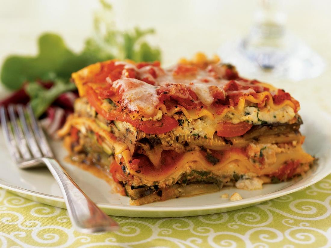 Grilling the vegetables deepens their flavors, which makes for a delicious vegetarian entrée. To speed preparation, use no-boil lasagna noodles; the baking time remains the same.