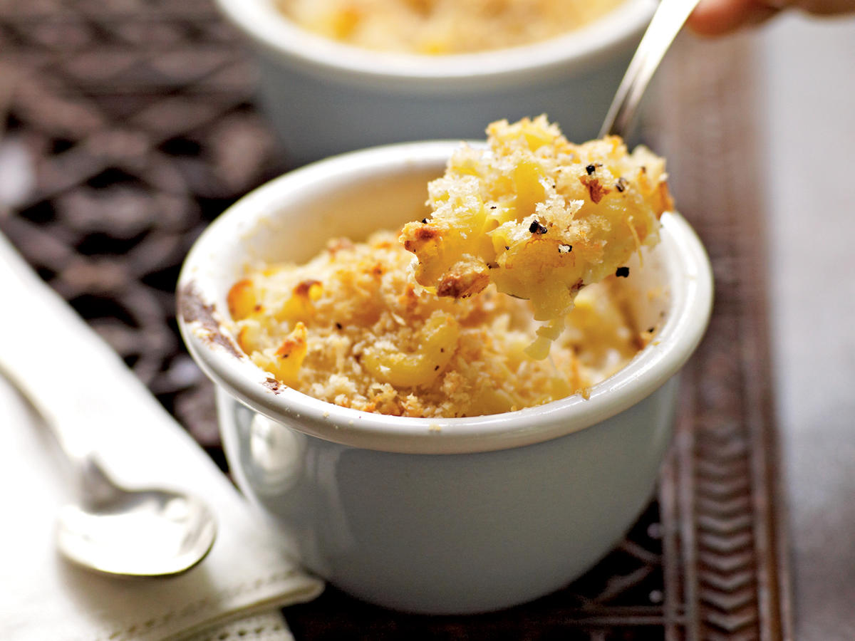 Try this rich and creamy Three-Cheese Macaroni and Cheese for the ultimate feel-good meal.