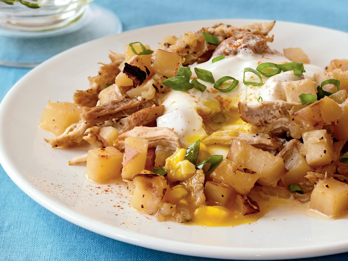 Cheap healthy food recipes - Pork Potato Hash With Eggs