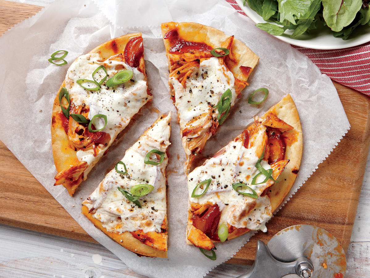 November 12: Quick BBQ Chicken Pizzas