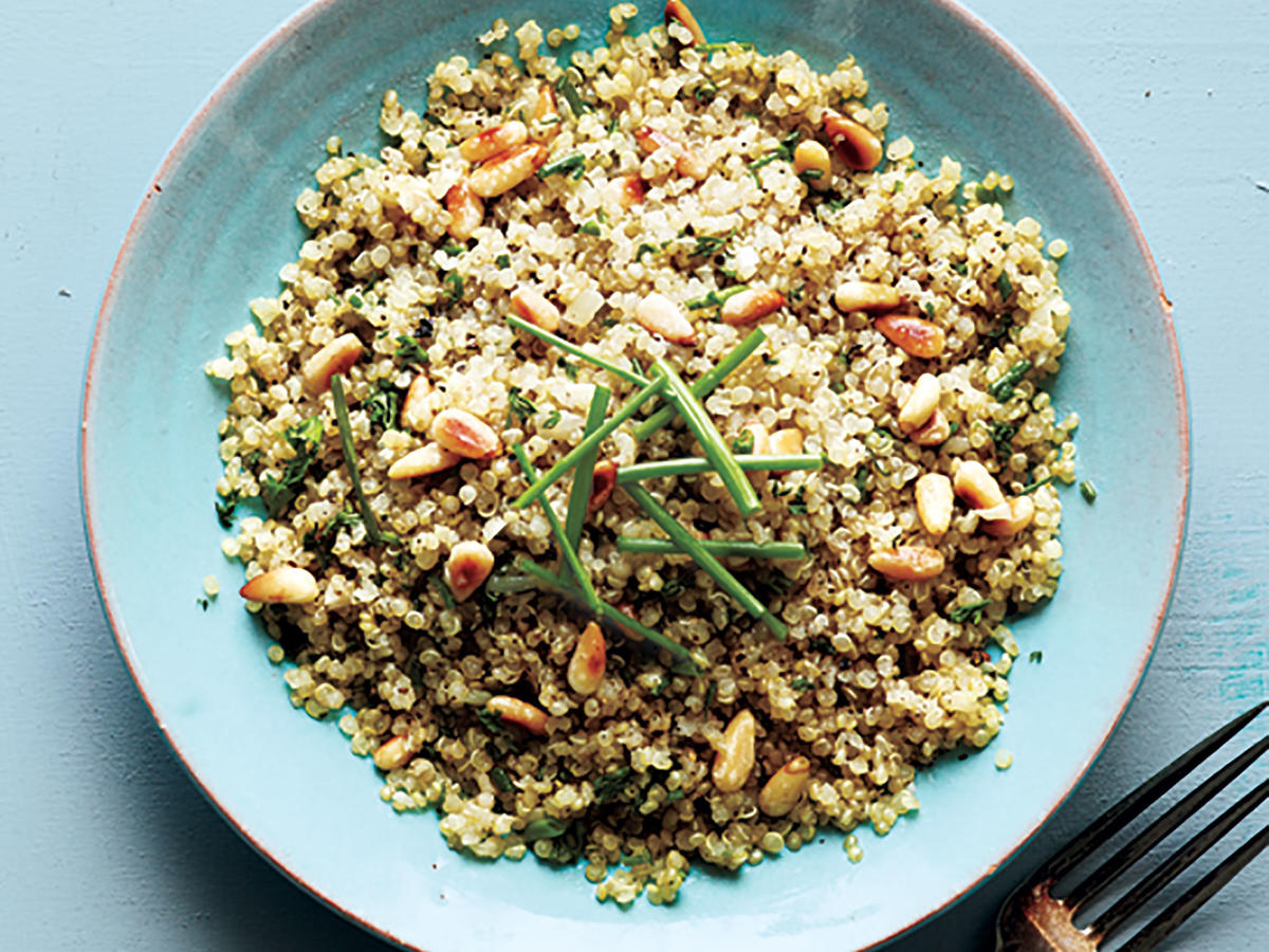 Quinoa with Toasted Pine Nuts