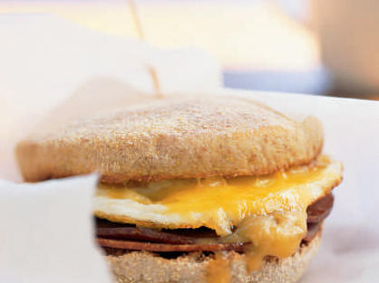 Quick and Healthy Ham and Cheese Breakfast Sandwich with Mango Chutney