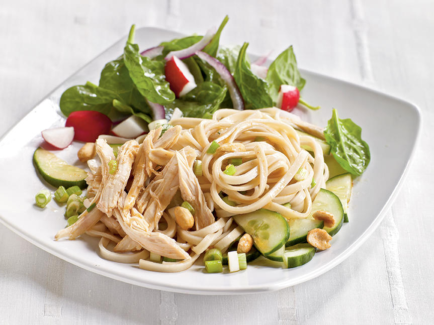 Healthy Dinner Recipes: Cold Sesame Noodles with Chicken and Cucumbers